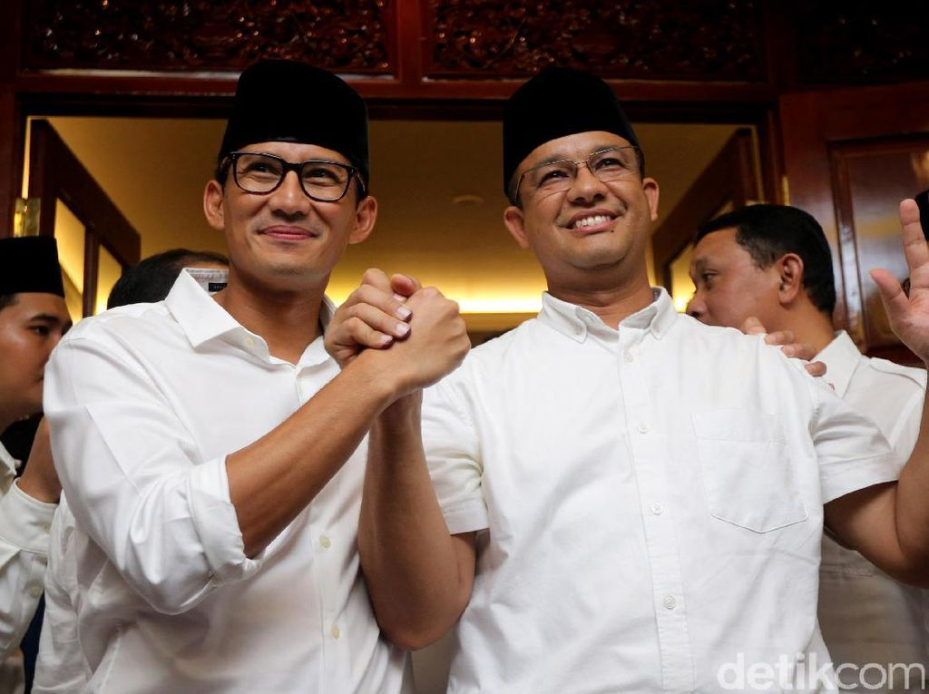 PKS Buka Peluang Duet Anies-Sandi di Pilpres 2024, Gerindra Risi