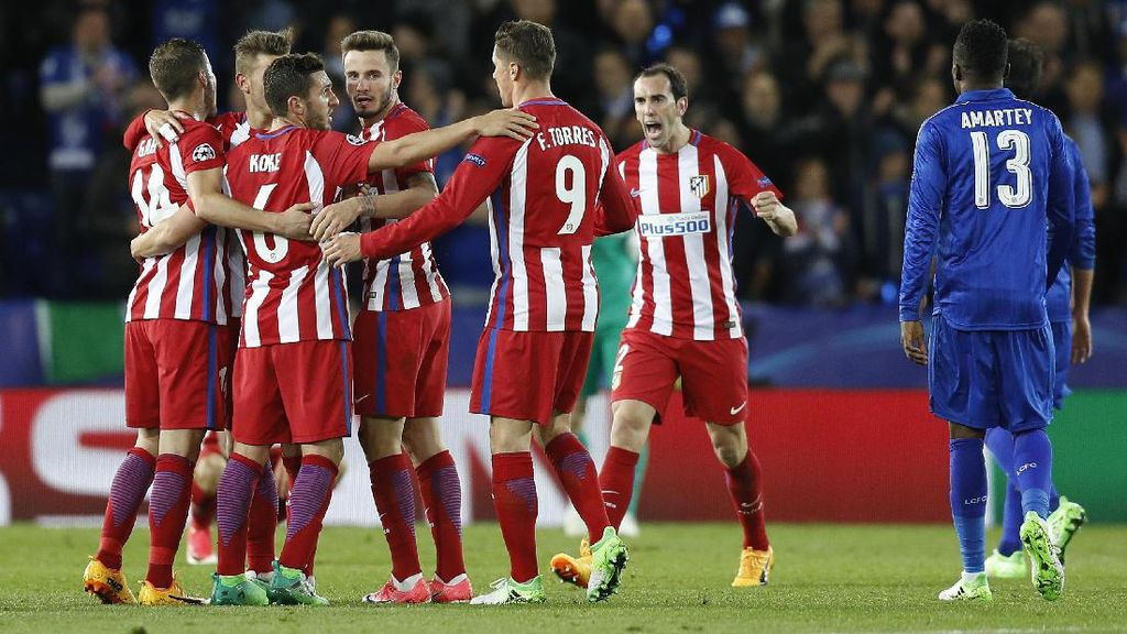 Berimbang 1-1 dengan Leicester, Atletico ke Semifinal