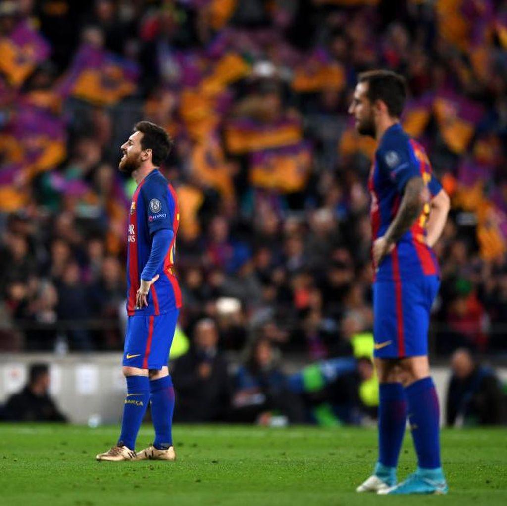 Meme-meme Kocak Tersingkirnya Barcelona dari Liga Champions