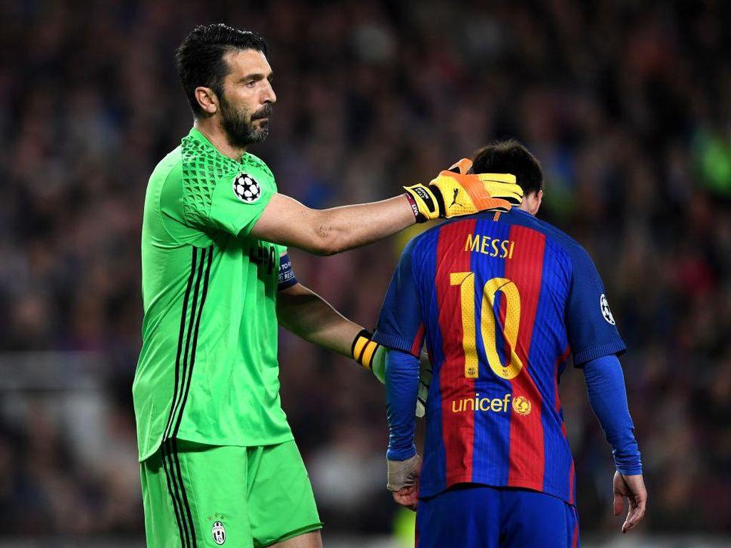Dapat 2 Botol Bir karena Dibobol Messi, Ini Reaksi Buffon