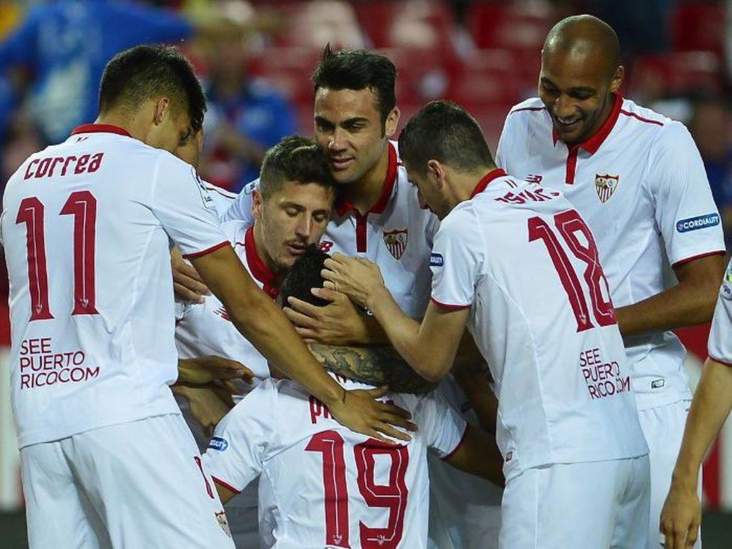 Dua Gol Ganso Mantapkan Sevilla di Empat Besar
