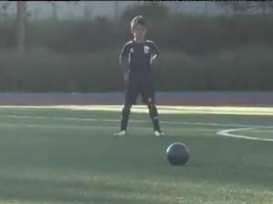 Keren, Gol <i>Free Kick</i> Anak Cristiano Ronaldo