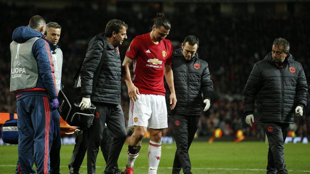 Lewat Instagram, Ibrahimovic Kirim Kode Lututnya Sudah Lebih Kuat