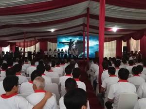 Lewat Video Conference, Menkum Pimpin Perayaan Paskah 237 Lapas