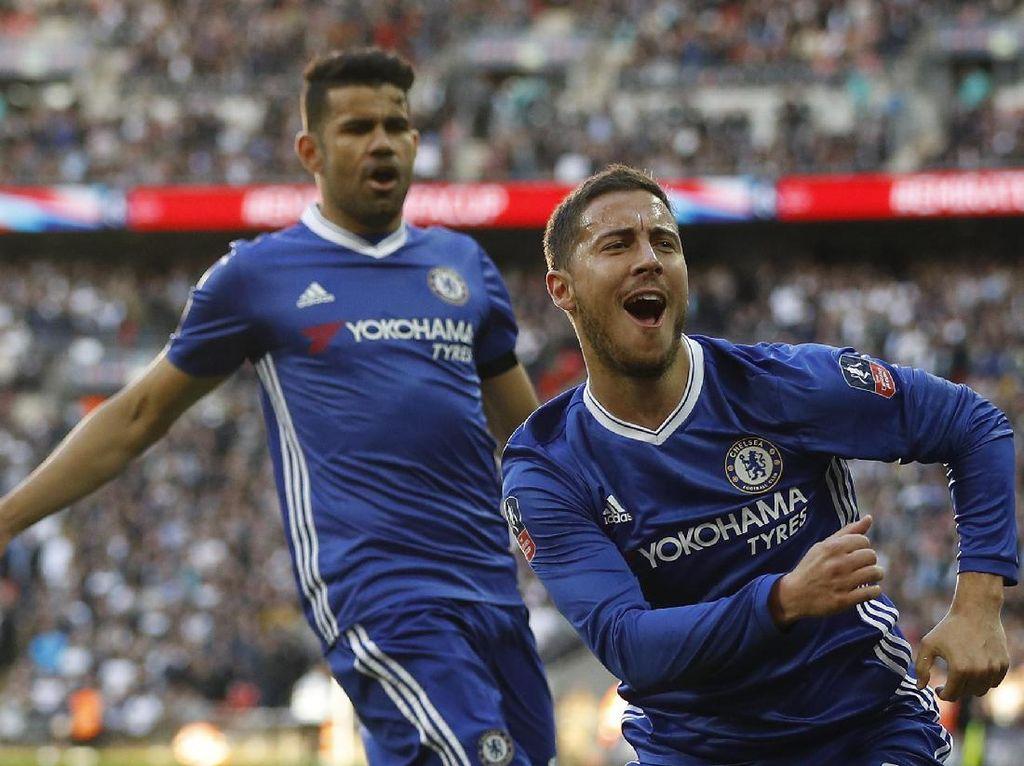Hazard Masuk, Bikin Gol, dan Chelsea pun Menang