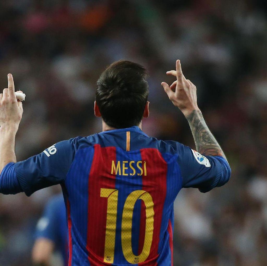 Dua Gol Messi Merespons Hat-trick Ronaldo ke Gawang Bayern