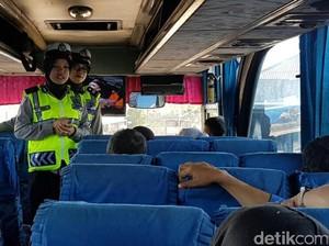 Arus Balik Liburan, Polres Cianjur Jaring Bus Tanpa Pemecah Kaca