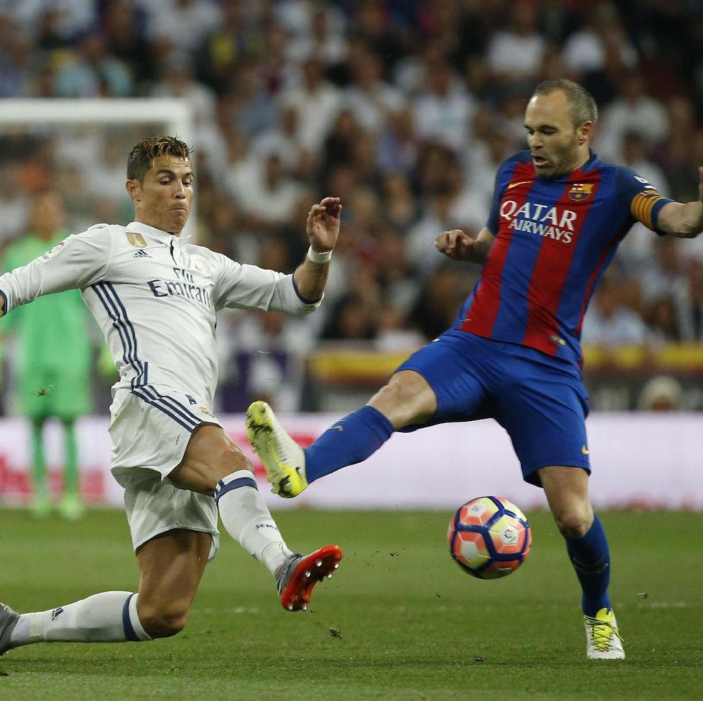 Madrid vs Barca Sama Kuat di Babak Pertama