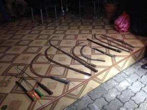 Razia di Cawang Usai Tawur, Polisi Temukan Sejumlah Senjata Tajam