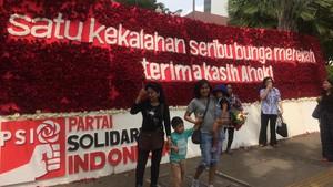 PSI Tepis Ada Mobilisasi Karangan Bunga untuk Ahok ke Balai Kota