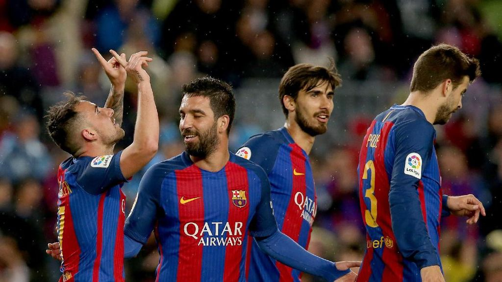 Barcelona Pesta Gol ke Gawang Osasuna