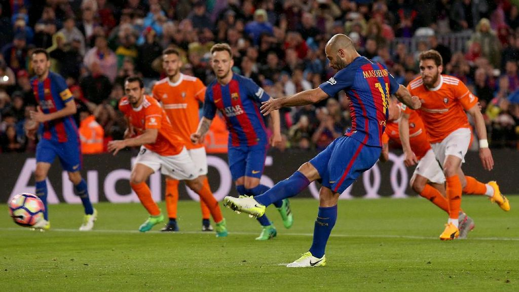 Setelah 319 Pertandingan, Mascherano Akhirnya Sumbang Gol untuk Barca