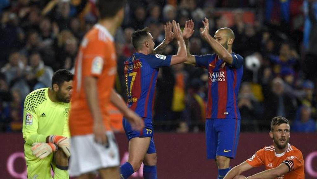 Meme Lucu Gol Mascherano: Dapat Ballon dOr, Sampai Selebrasi a la Messi