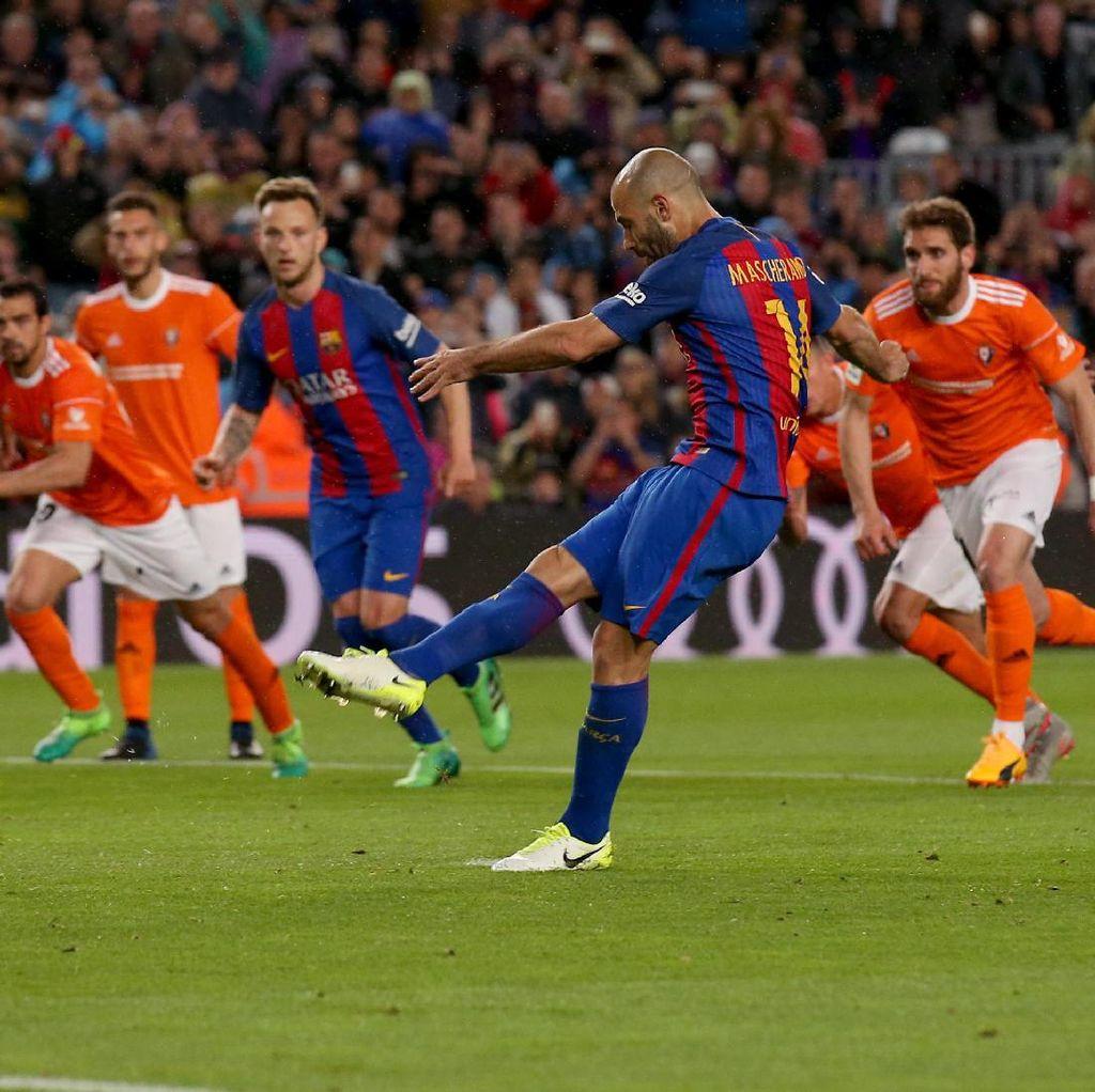 Cukup Satu Gol, Mascherano Sudah Jadi Bintang di Camp Nou