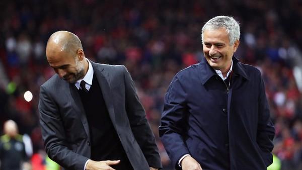 Guardiola: Ini soal City vs MU, Bukan Aku vs Mourinho