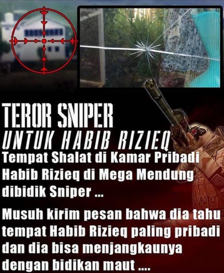 Polisi: Tak Ada Laporan Kamar Habib Rizieq Ditembak Sniper