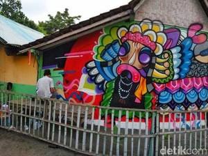 Komunitas Mural Percantik Kampong Pulau Santen Banyuwangi