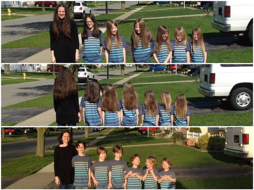 6 Kakak-Adik Rela Di-bully karena Memanjangkan Rambut untuk Amal