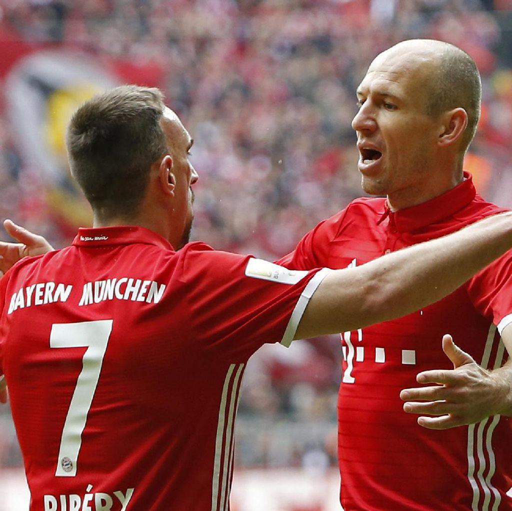 Robben-Ribery Menua, Bayern Harus Cepat Mencari Pengganti