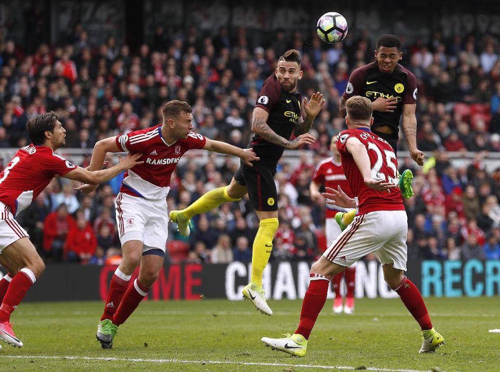 Dua Kali Tertinggal, City Seri 2-2 dengan Middlesbrough