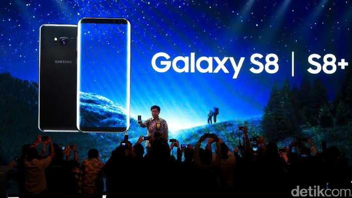 Peluncuran Galaxy S8 di Jakarta. Foto: Ari Saputra