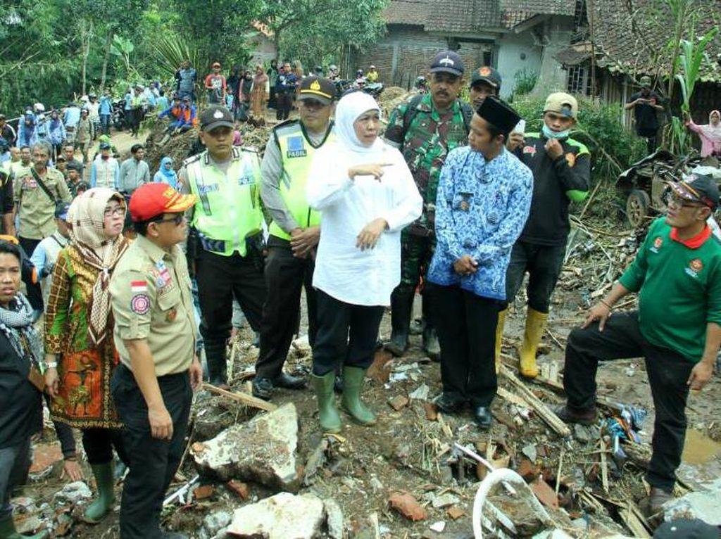 Mensos Khofifah Desak Pemda Miliki Peta Rawan Bencana