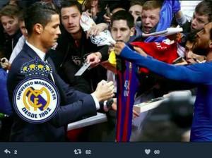 Meme Messi Minta Tanda Tangan Ronaldo