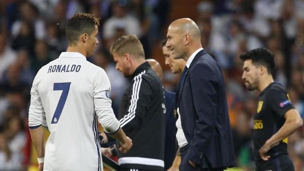 Beruntungnya Zidane Memiliki Ronaldo