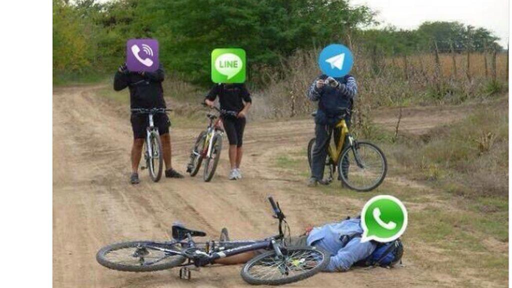 Meme Curhat WhatsApp Tumbang Ini Bikin Ngakak
