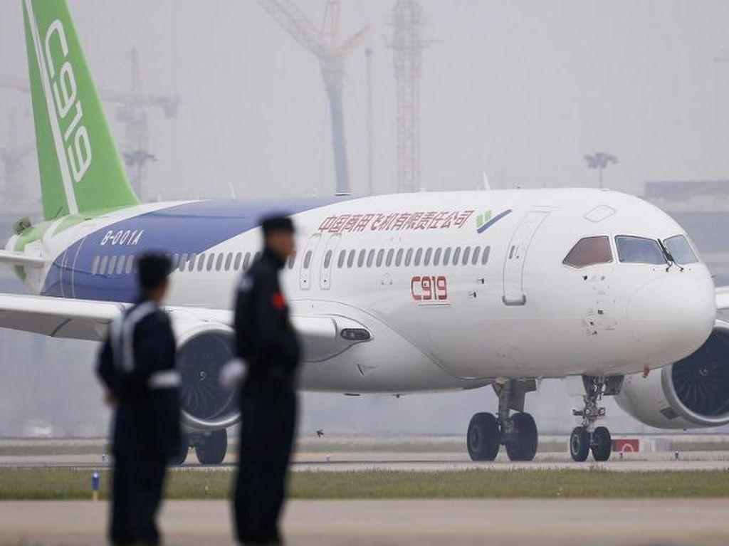 Harga Pesawat Buatan China C919 Setengah Airbus dan Boeing