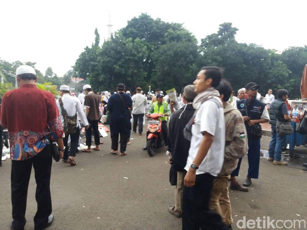 Aksi 55 Selesai, Massa Mulai Tinggalkan Masjid Istiqlal