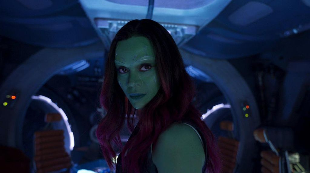 Lenturnya Zoe Saldana yang Jadi Gamora di The Avengers: Infinity War