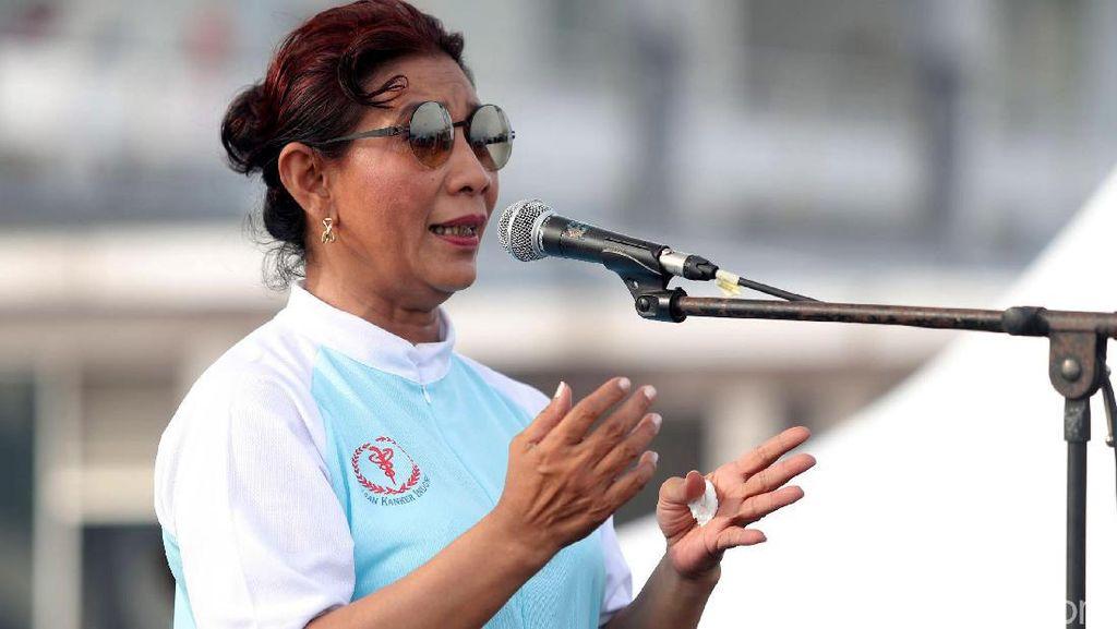 Susi: Kapal Tebar Jala Curi Ikan di Laut RI, Saya Sikat!