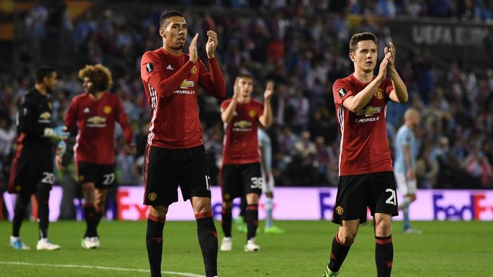 Manchester United usai kemenangan di markas Celta Vigo (Foto: David Ramos/Getty Images)