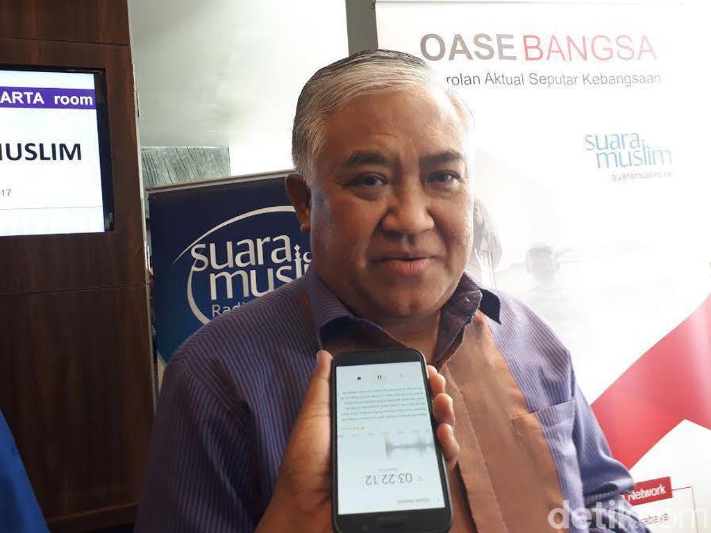 Din Syamsuddin: RI Punya 2 Modal untuk Hidup Rukun Beragama
