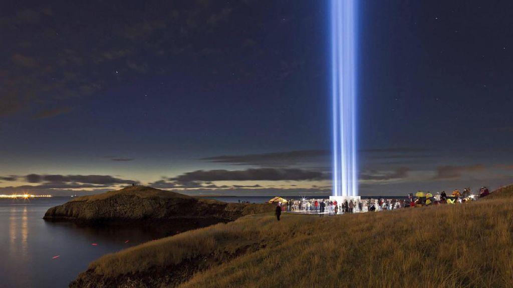 Monumen John Lennon di Islandia, Bentuknya Cahaya Sampai ke Langit