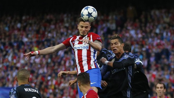 Atletico Unggul 2-1 atas Madrid di Babak Pertama