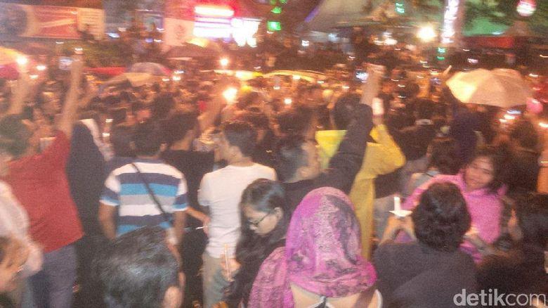 Massa Aksi untuk Ahok di Medan Bubarkan Diri dengan Tertib