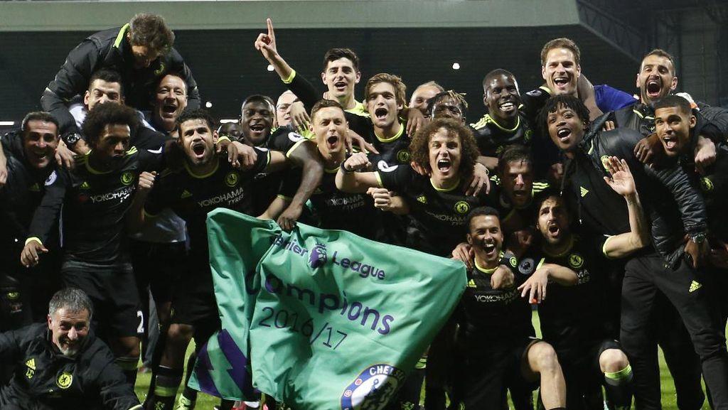Pesta Kemenangan Chelsea Usai Kantongi Titel Juara Liga Inggris