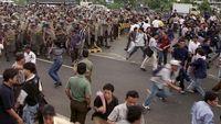 ilustrasi kerusuhan Mei 1998 silam