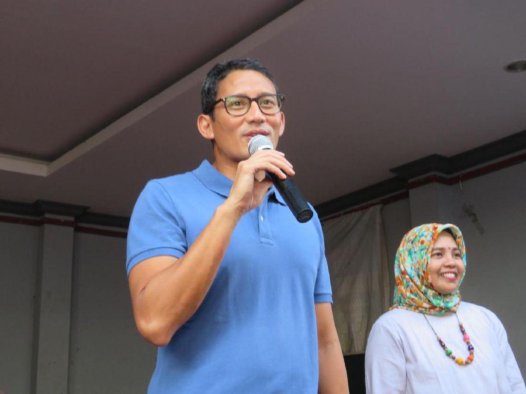 Syukuran Kemenangan, Sandiaga: Mari Tanggalkan Seragam Kampanye