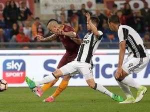 Dikalahkan Roma, Pesta Juara Juve Tertunda