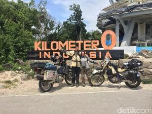 Pasutri Amerika Keliling Dunia Naik Motor, Singgah di Indonesia