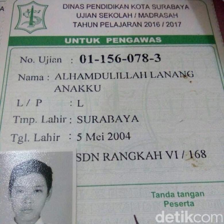"""Pelajar SD di Surabaya ini Punya Nama """"Alhamdulillah Lanang Anakku"""""""