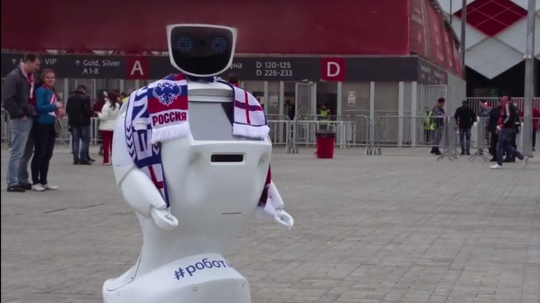 Ini Alantim, Robot Pelindung Fans Inggris di Piala Dunia 2018