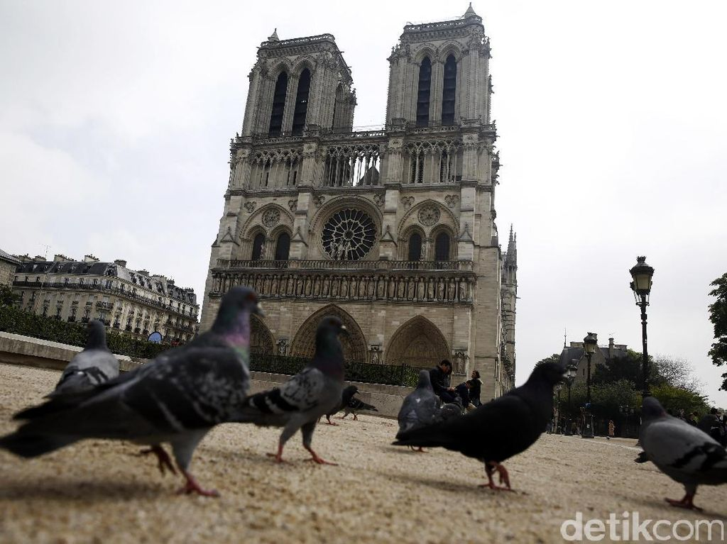Berwisata di Notre Dome Paris