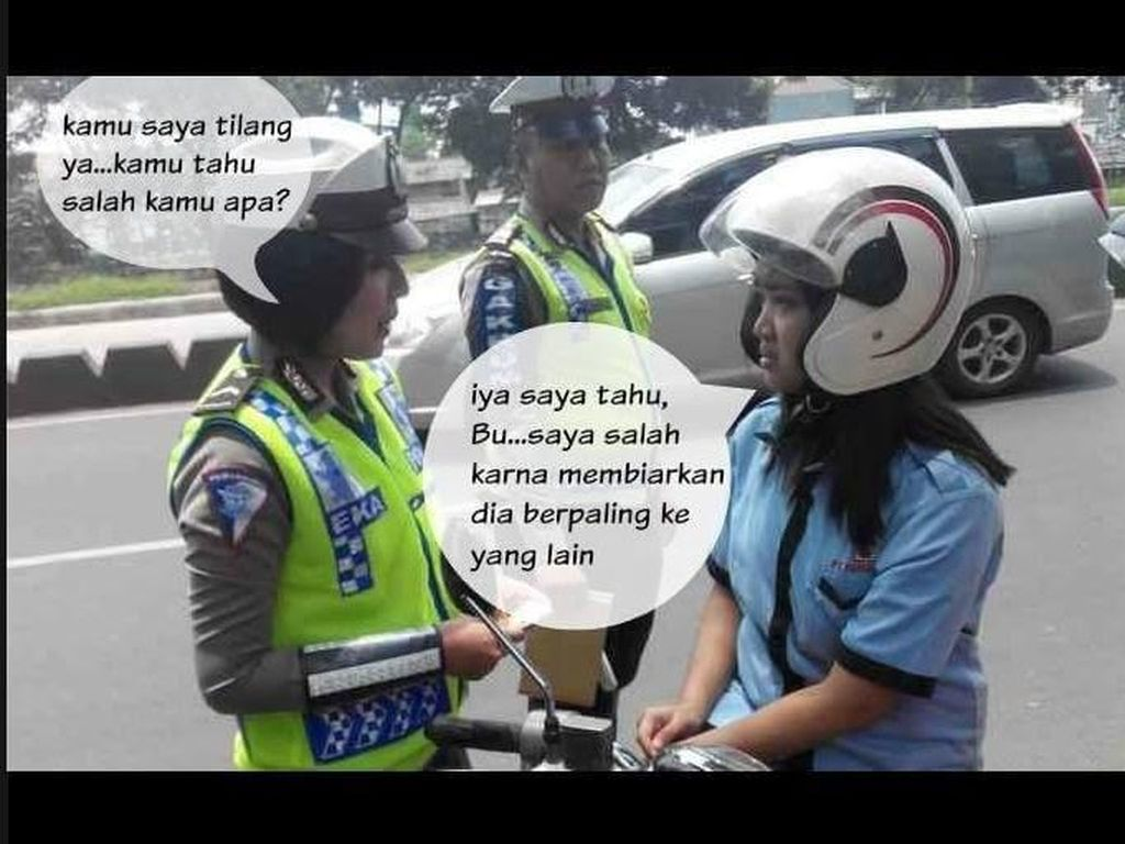 Meme Lucu Ditilang Polisi
