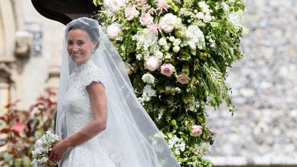 Foto: Detail Gaun Pernikahan Indah Milik Pippa Middleton