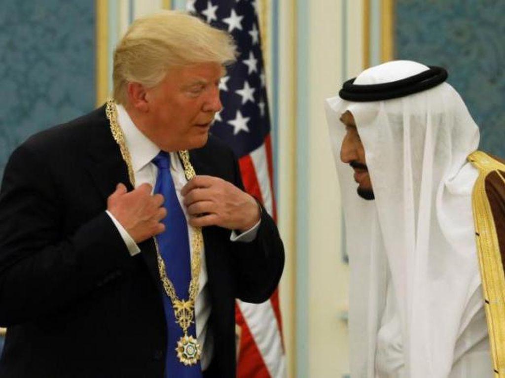 Dituduh Berkongsi Soal Palestina, Ini Momen Bersama Raja Salman-Trump