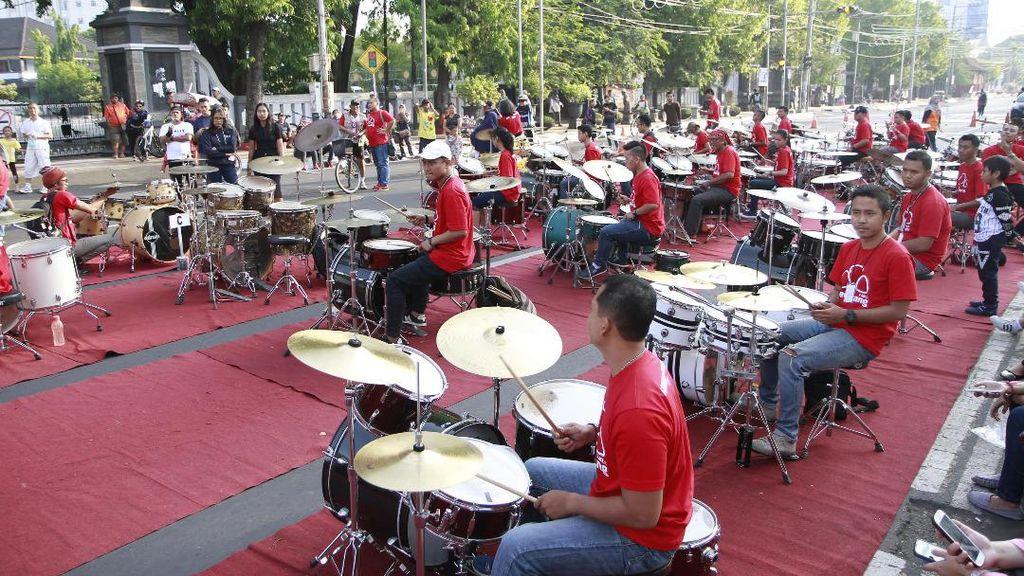 Gilang Ramadhan dan 100 Drummer Hentakkan Kota Semarang